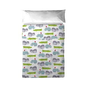 Poszewka na poduszkę i narzuta Mr. Fox Hippo, 100x135 cm