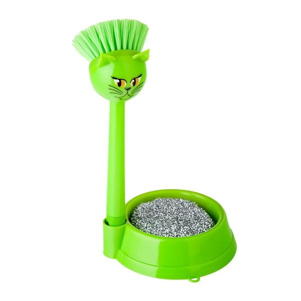 Zestaw do mycia naczyń Vigar Green Cat