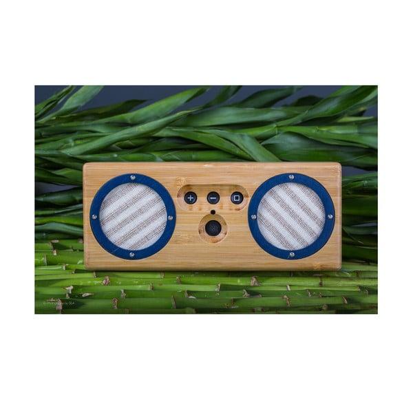 Przenośny bambusowy głośnik Navy&Stripes Bongo