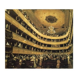 Reprodukcja obrazu Gustava Klimta - Auditorium in the Old Burgtheater Vienna, 50x50 cm