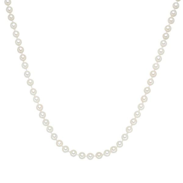 Perłowy naszyjnik Muschel, białe perły 6 mm, długość 50 cm