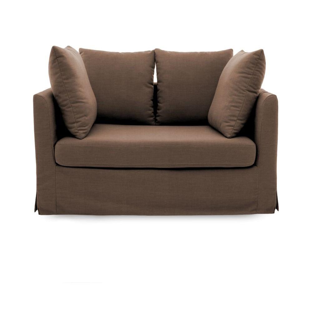 Brązowa sofa dwuosobowa Vivonita Coraly