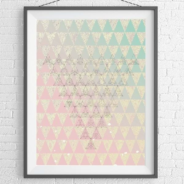 Plakat Triangle Art, A3