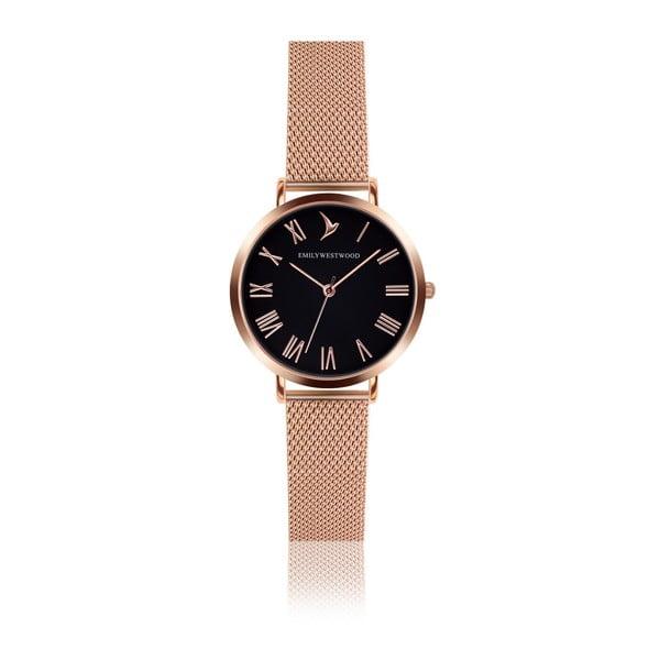 Zegarek damski z bransoletką ze stali nierdzewnej w miedzianym kolorze Emily Westwood Go