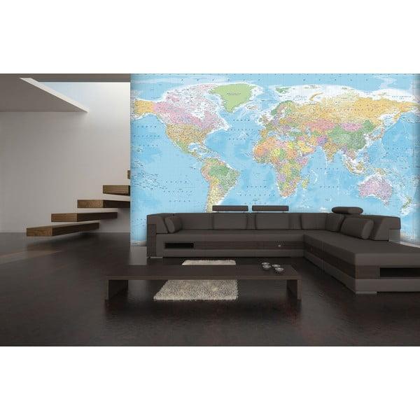 Tapeta wielkoformatowa Niebieska mapa, 366x254 cm