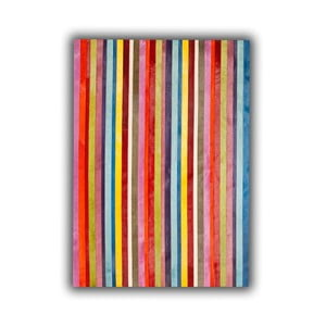 Dywan skórzany Vertical Stripes, 140x200 cm