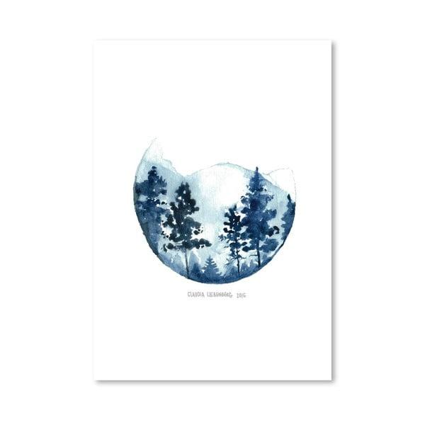Plakat Blue Mountain, 30x42 cm
