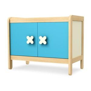 Niebiesko-kremowa dwudrzwiowa szafka/kredens Timoore Simple