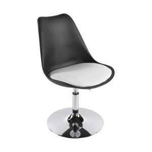 Czarno-białe krzesło Kokoon Victoria