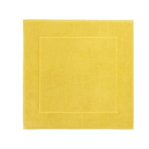 Żółty dywanik łazienkowy Aquanova London, 60x60 cm