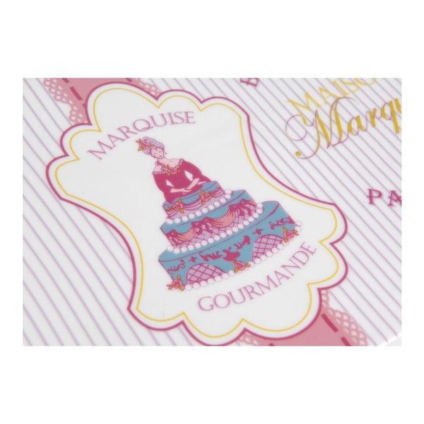 Talerz na ciasto Marquise z łopatką, 37x17 cm
