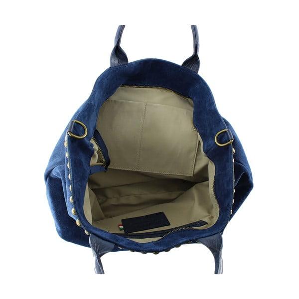 Skórzana torebka Skull, niebieska