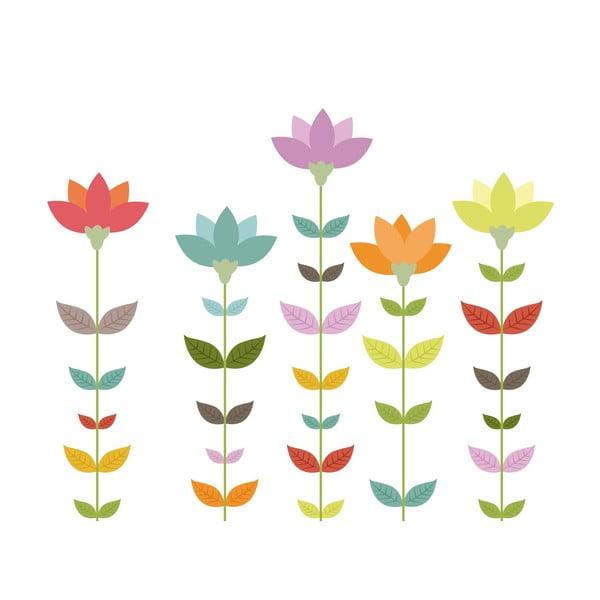 Naklejka ścienna Minimal Flowers