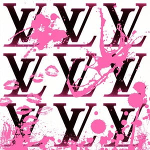 Obraz I Love Louis Pink, 30x30 cm