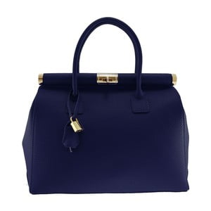 Niebieska torba skórzana Chicca Borse Alamir
