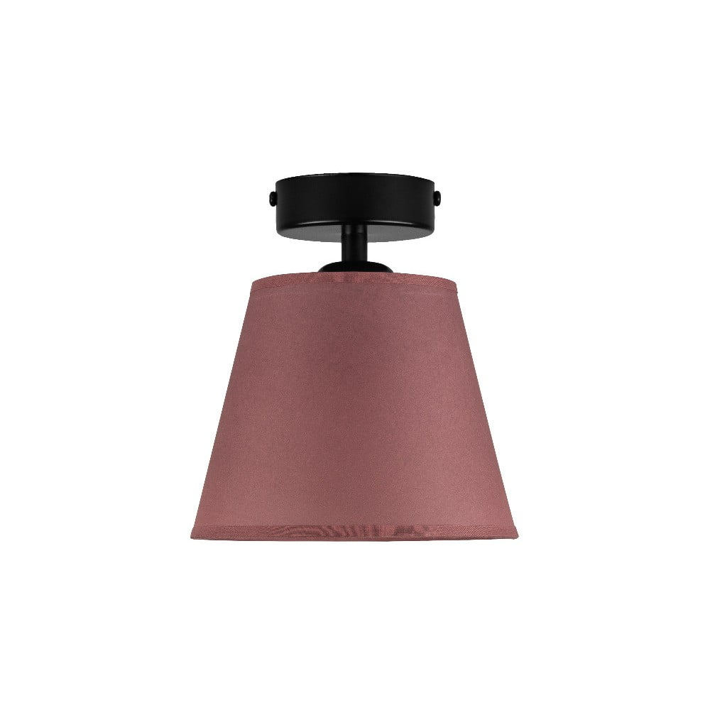 Ciemnoróżowa lampa sufitowa Sotto Luce IRO Parchment, ⌀ 16 cm
