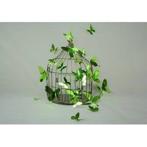 Zestaw 12 naklejek elektrostatycznych 3D Fanastick Butterflies Green