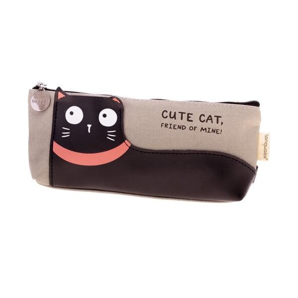 Szary piórnik Languo Lazy Cat