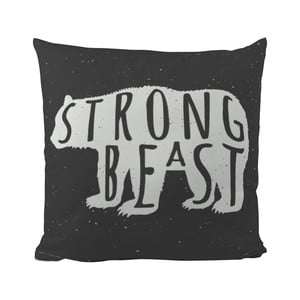 Poduszka Black Shake Strong Beast, 50x50 cm