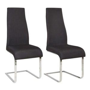 Zestaw 2 czarnych krzeseł Støraa Teresa