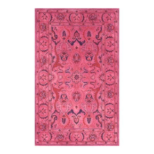 Wełniany dywan Pink Punk, 120x183 cm