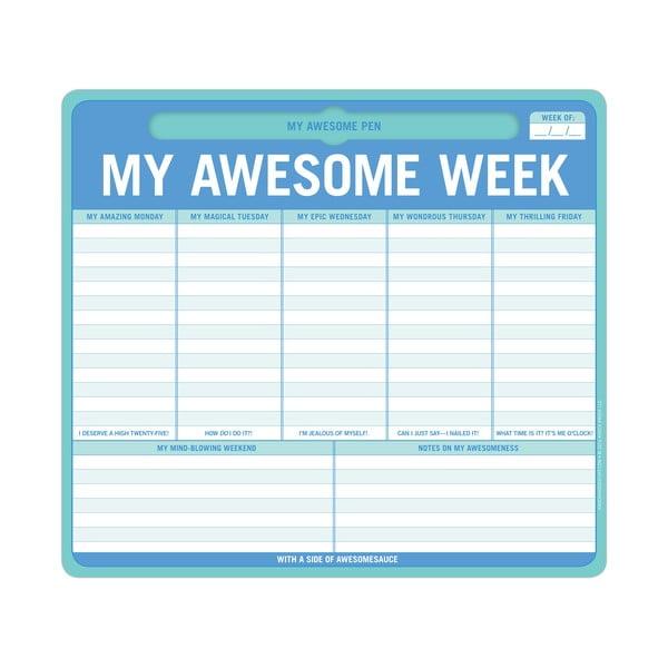 Notatkik tygodniowy My Awesome Week