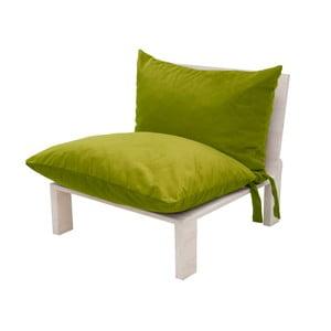 Fotel z poduszkowym oparciem Tanzania Lime