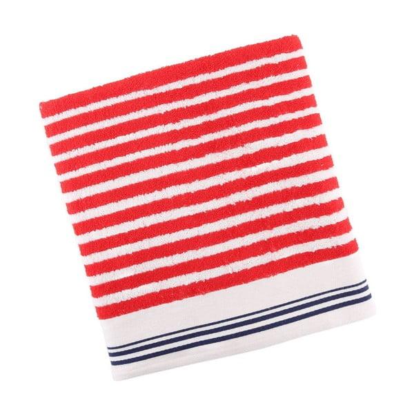 Ręcznik bawełniany BHPC White 80x150 cm, czerwony