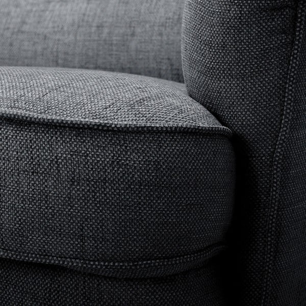 Antracytowa sofa 3-osobowa Vivonita Fifties
