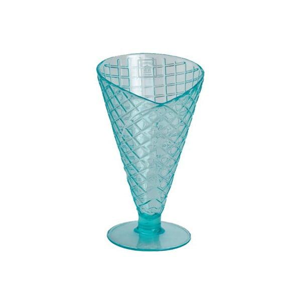 Niebieski pucharek z tworzywa sztucznego Navigate Sundae Cone Aqua