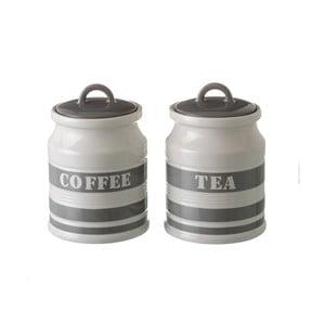 Zestaw 2 kamionkowych pojemników na herbatę i kawę Unimasa Urban