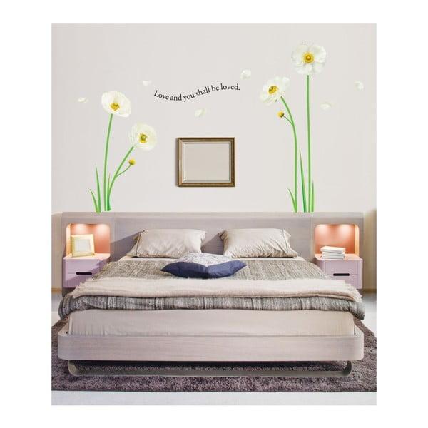 Naklejka Ambiance White Poppies Flowers