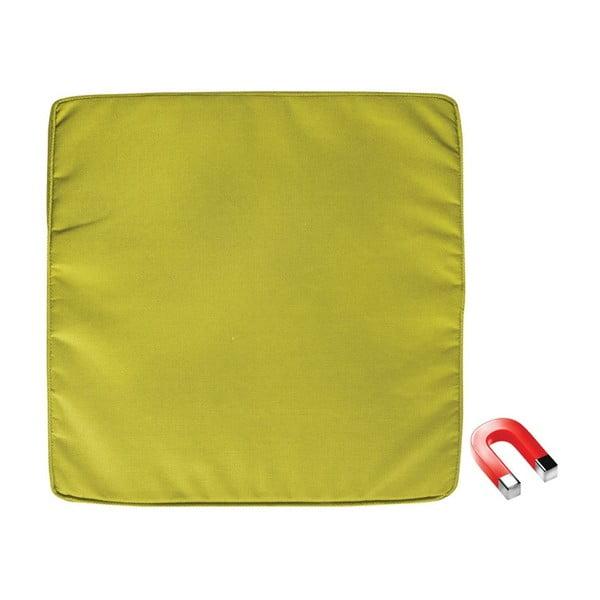 Zielona poduszka na krzesło z magnesem zapobiegającym zwiewaniu przez wiatr Esschert Design Magic