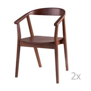 Zestaw 2 krzeseł w dekorze drewna orzechowego sømcasa Donna
