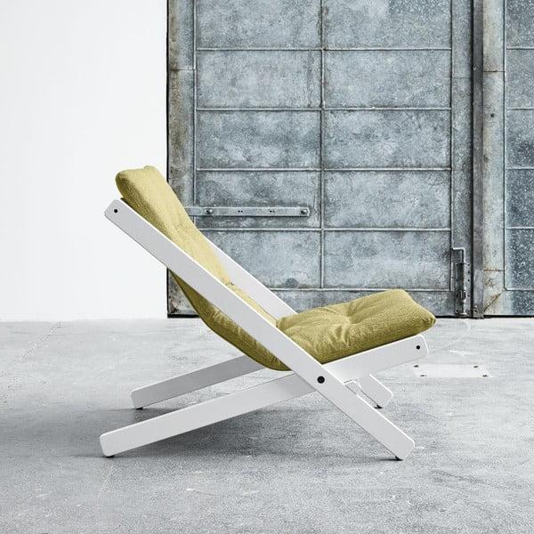 Fotel składany Karup Boogie White/Avocado Green