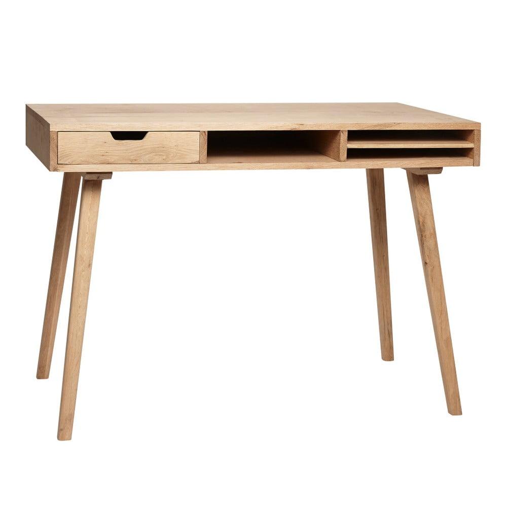 Biurko z drewna dębowego z szufladą Hübsch Keld