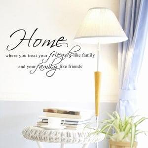 Naklejka dekoracyjna Family & Friends, 45x80 cm