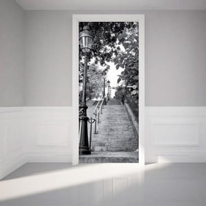 Naklejka na drzwi Ambiance Parisian Stairs