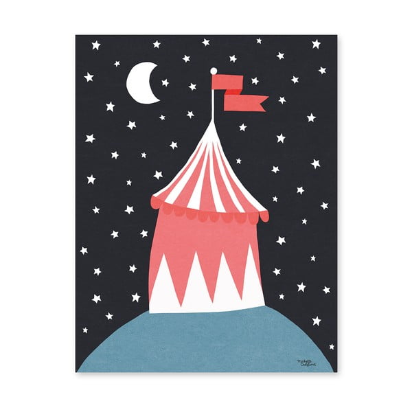 Plakat Michelle Carlslund Circus Tent, 30x40cm