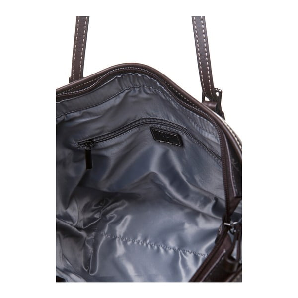 Skórzana torebka przez ramię Canguru Tag, brązowa