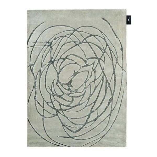 Wełniany dywan Chloe Silver, 170x240 cm