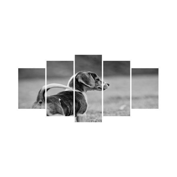 Wieloczęściowy obraz Black&White no. 101, 100x50 cm