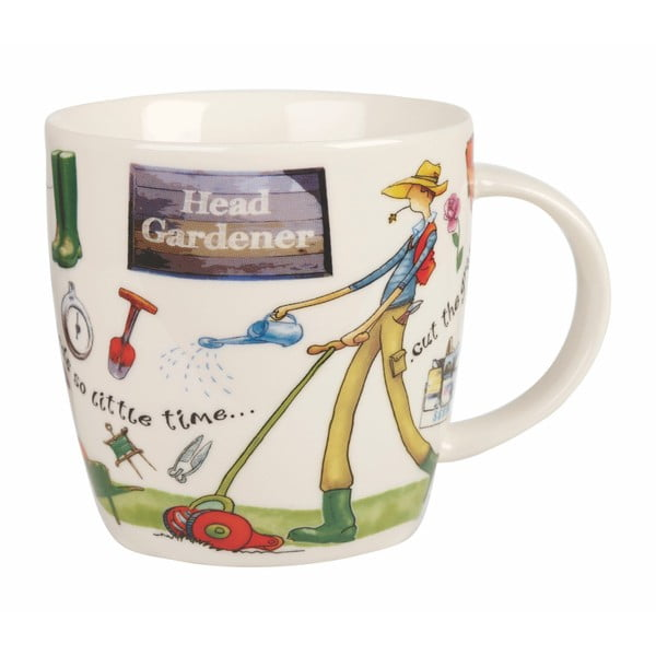 Kubek z porcelany Churchill China At Your Leisure Head Gardener, 400 ml