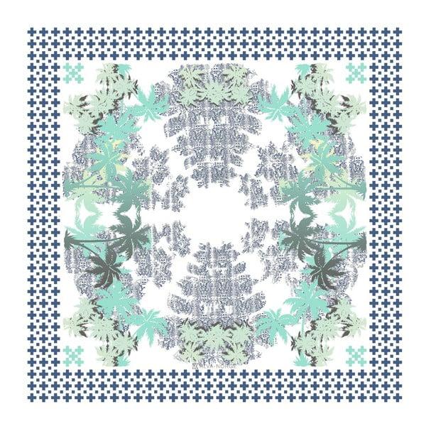 Chusta jedwabna Pammy Blue, 130x130 cm