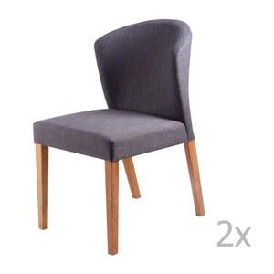 Zestaw 2 ciemnoszarych krzeseł sømcasa Alina
