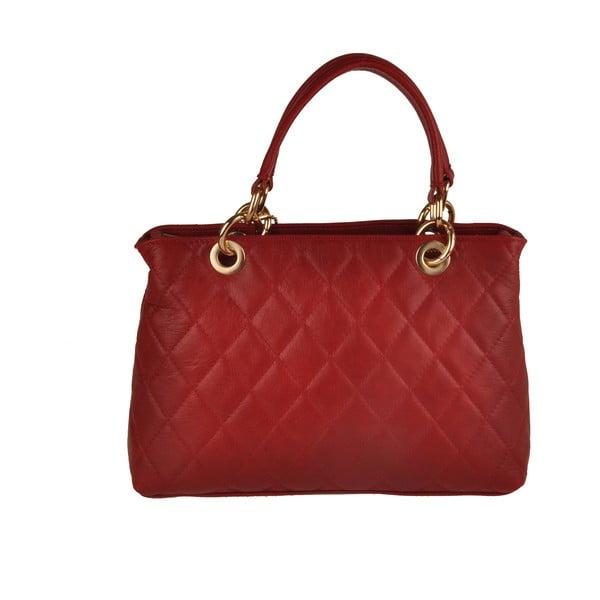 Skórzana torebka Emilio Masi Belore, czerwona