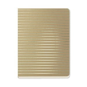 Notes A6 Go Stationery Fine Stripe Gold
