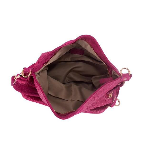 Różowa torebka skórzana Andrea Cardone Edvige