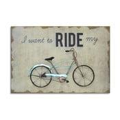 Obrazek Green Bike, 60x40 cm