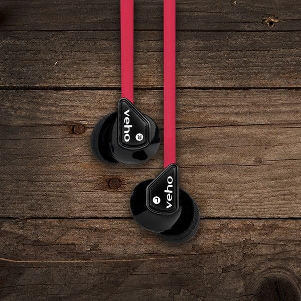 Czerwone słuchawki douszne Veho Z-1